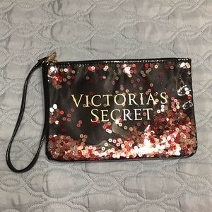 Victorias secret floating sequin pouch pouchette